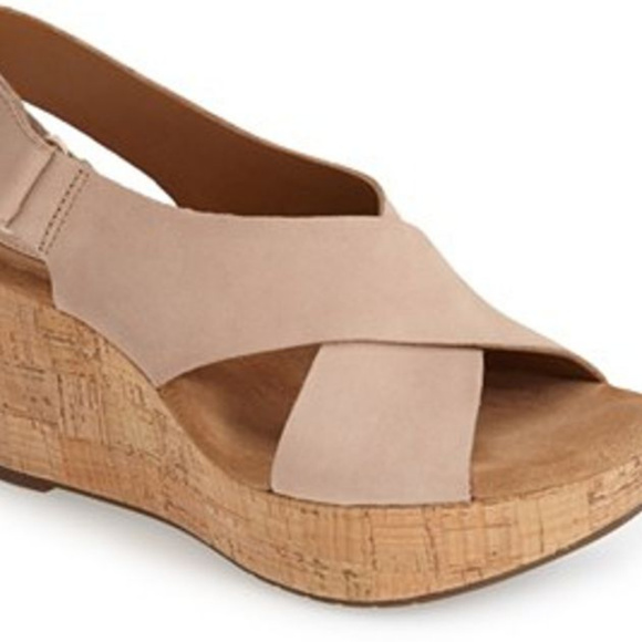 1c04eea1f4a Clarks Shoes - Clarks Women s Caslynn Shae Wedge Sandal